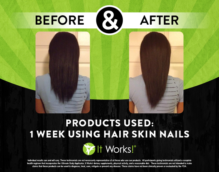 It Works Hair Skin and Nails Results